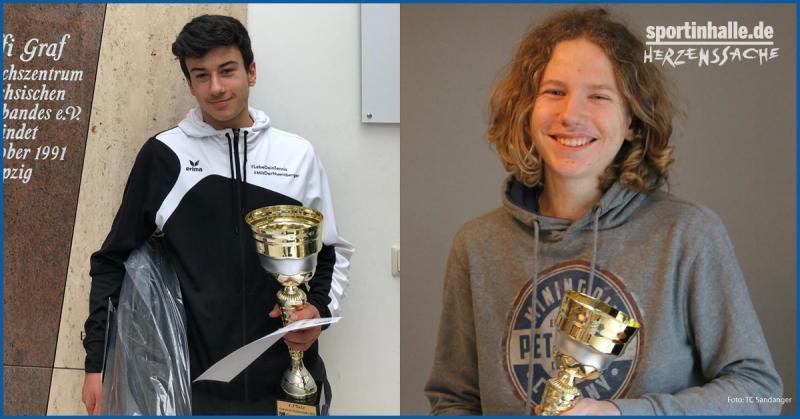 Kiyan Kasemi & Jonas Hesse freuen sich über ihre Pokale